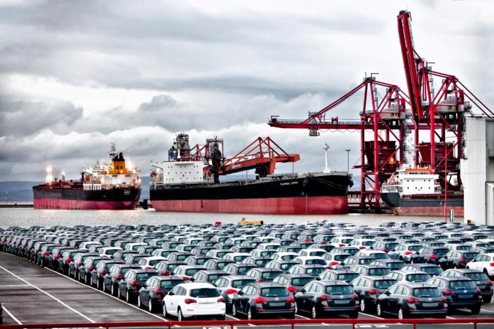 Portbury Ships And Cars Retouch Medium Large