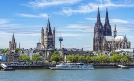 Cologne Cathedral And View Over Rhine River