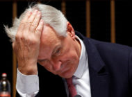 Michel Barnier Head In Hands