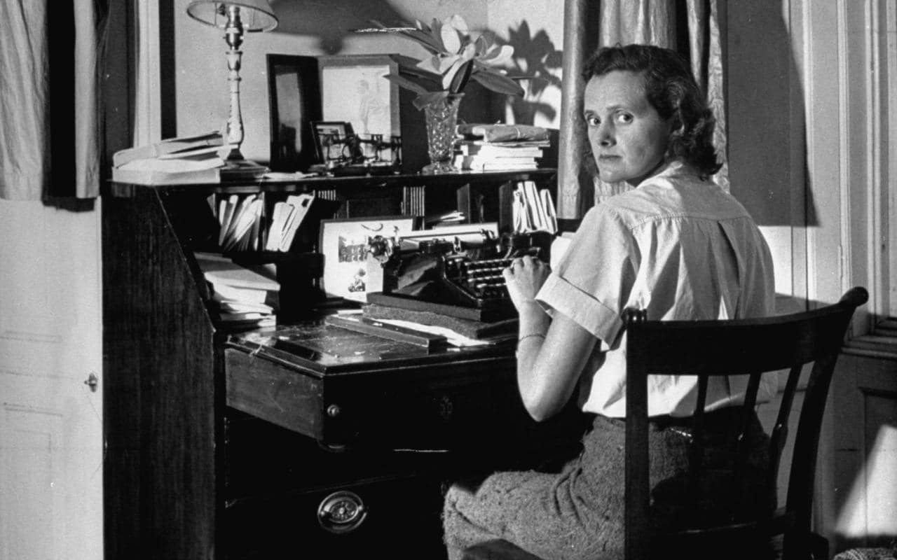 Daphne Du Maurier Writing At Desk Xlarge